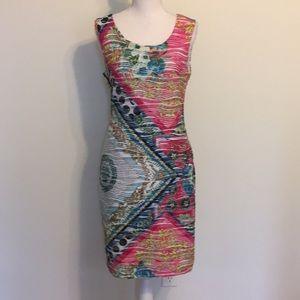 Versona Brand Multi Print Sleeveless Shift Dress